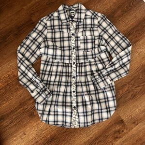 Free People Button Down Long Sleeve Top